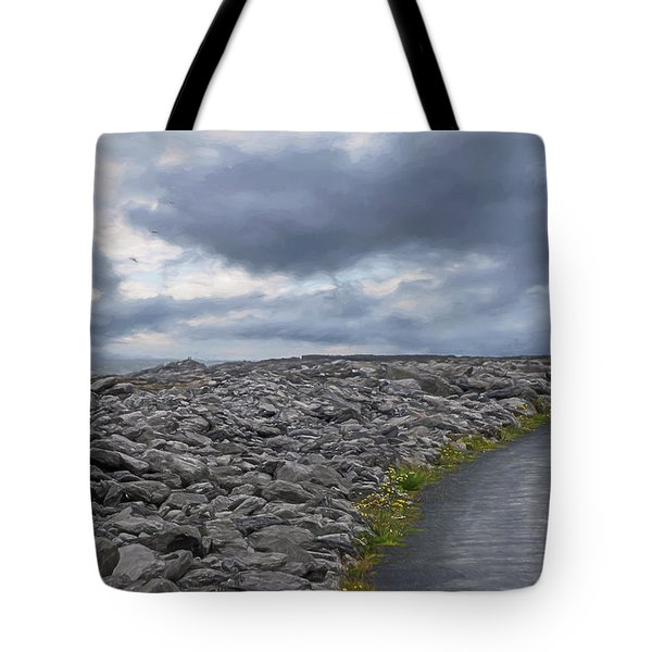 Tote Bag featuring the photograph Rocky Road To The Lighthouse by Teresa Wilson