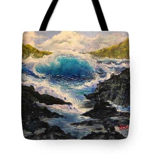 Rocky Sea Tote Bag