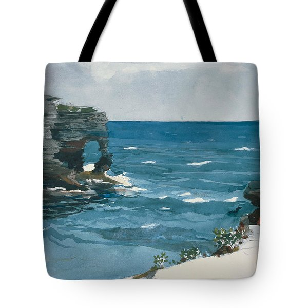 Rocky Shore, Bermuda Tote Bag