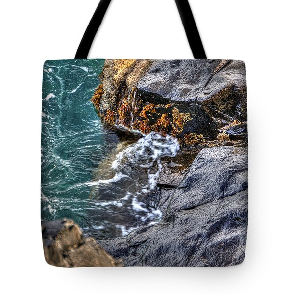 Tote Bag featuring the photograph Rocky Shores by Adrian LaRoque