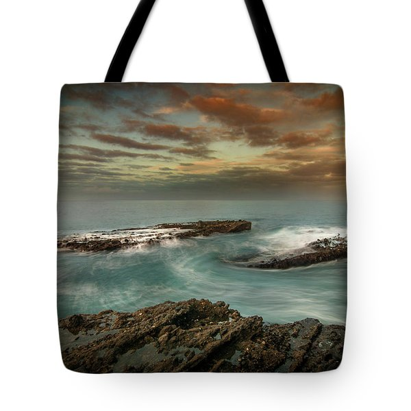 Rocky Shores At Victoria Beach Tote Bag