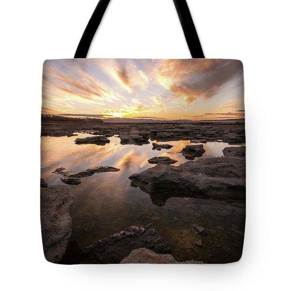 Rocky Shores Of Utah Lake Tote Bag