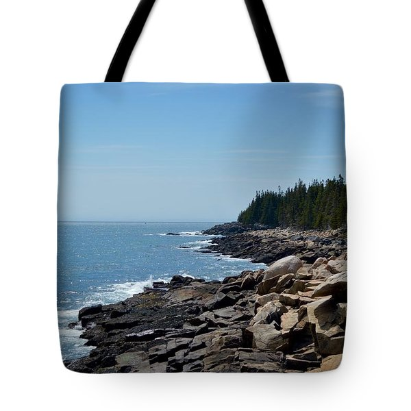 Rocky Summer Shore Tote Bag