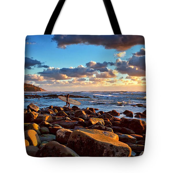 Rocky Surf Conditions Tote Bag