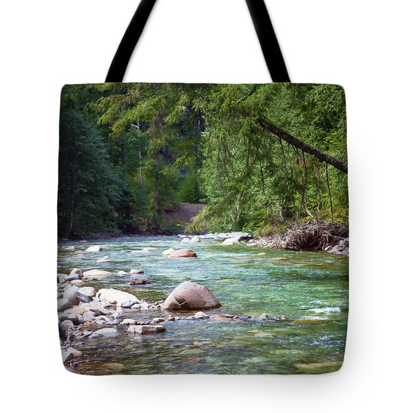 Rocky Waters In The North Cascades Landscape Photography By Omas Tote Bag