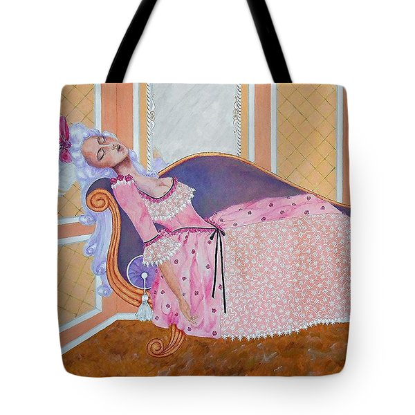 Rococo Coquette -- Mme. Pompadour, #2 In Famous Flirts Series Tote Bag