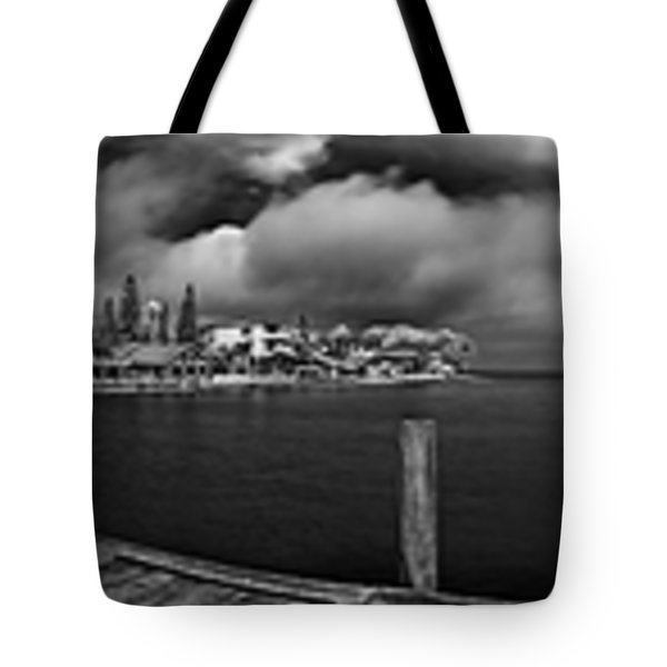 Rod And Reel Pier In Infrared Tote Bag