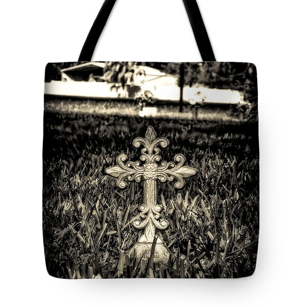 Rod Iron Cross  Tote Bag by Michael White