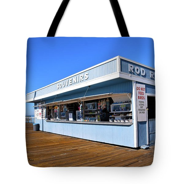 Tote Bag featuring the photograph Rod Rental At The Pismo Beach Pier by Floyd Snyder