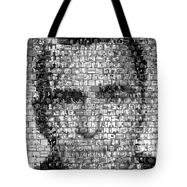 Rod Serling Twilight Zone Mosaic Tote Bag by Paul Van Scott