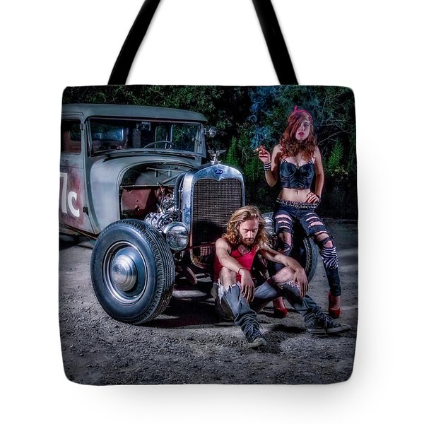Rodders #2 Tote Bag by Jerry Golab