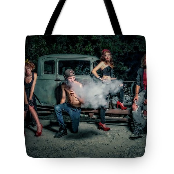 Rodders #3 Tote Bag by Jerry Golab