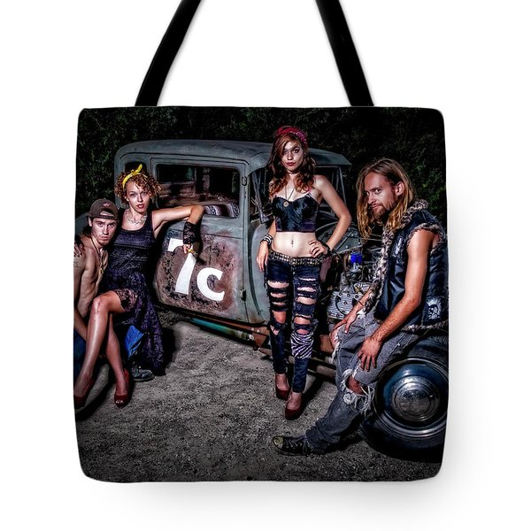 Rodders #4 Tote Bag by Jerry Golab