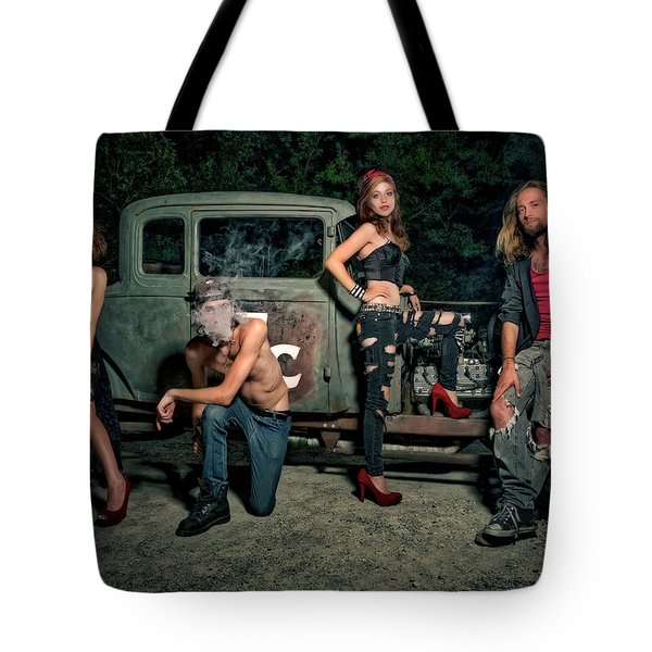 Rodders #5 Tote Bag by Jerry Golab