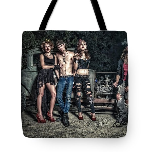 Rodders #6 Tote Bag by Jerry Golab