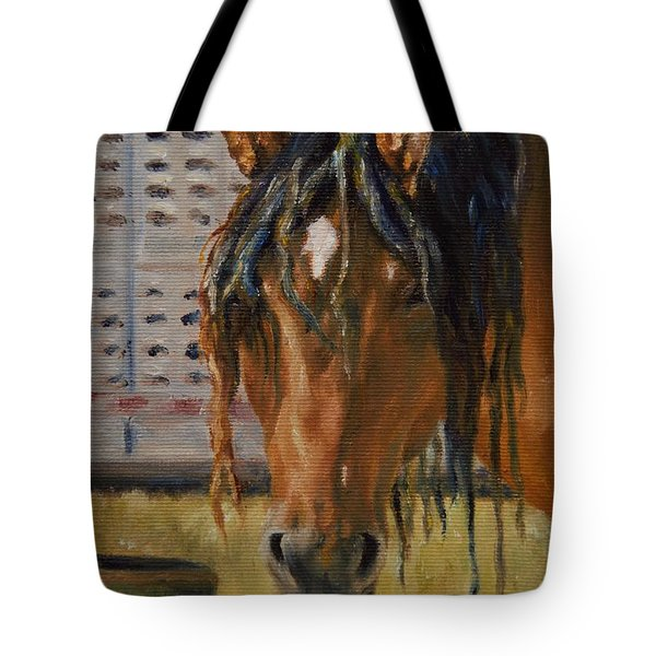 Rodeo Horse Tote Bag by Lori Brackett
