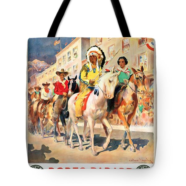 Rodeo Parade - Vintage Poster Restored Tote Bag