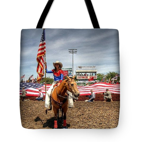 Tote Bag featuring the photograph Rodeo Queen by John King