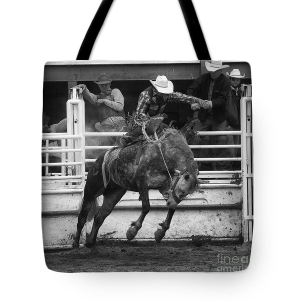 Rodeo Saddleback Riding 4 Tote Bag