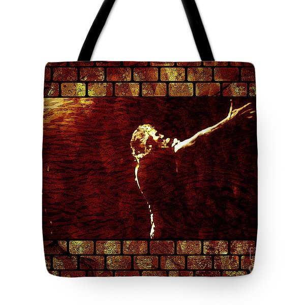 Rodger Waters The Wall Tote Bag by Robert Ball