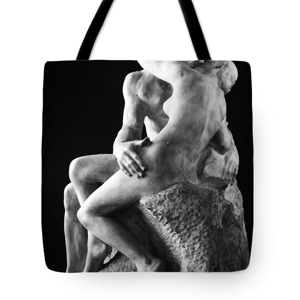 Tote Bag featuring the photograph Rodin: The Kiss, 1886 by Granger
