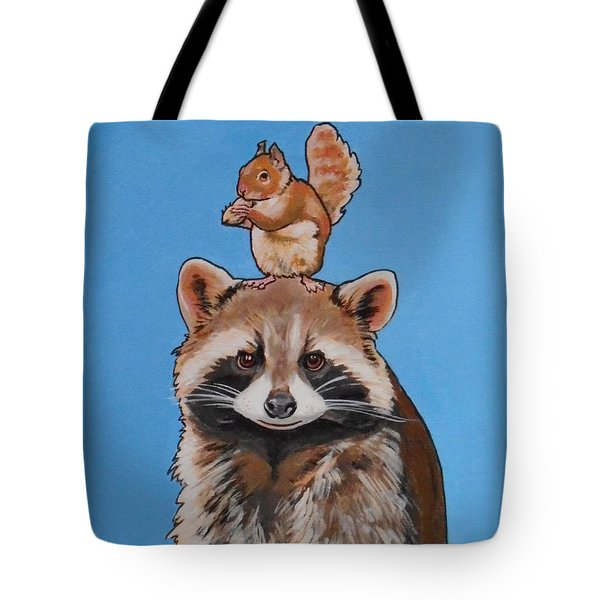 Rodney The Raccoon Tote Bag