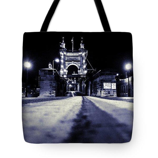 Roebling Suspension Bridge Tote Bag by Keith Allen