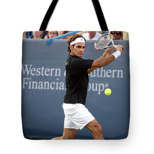 Roger Federer Tote Bag by Keith Allen