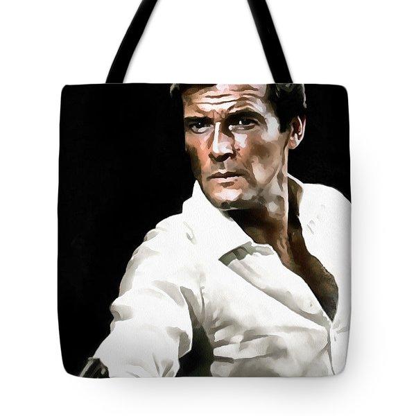 Roger Moore Tote Bag