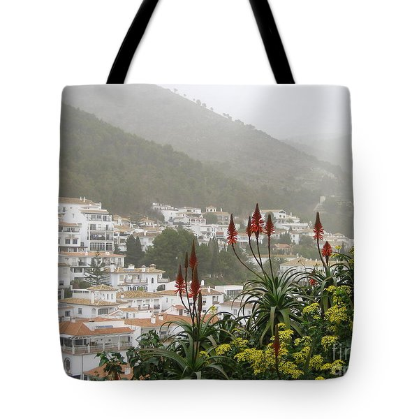Rojo In The Pueblos Blancos Tote Bag by Suzanne Oesterling