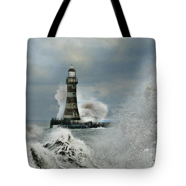 Roker Pier And Lighthouse Tote Bag