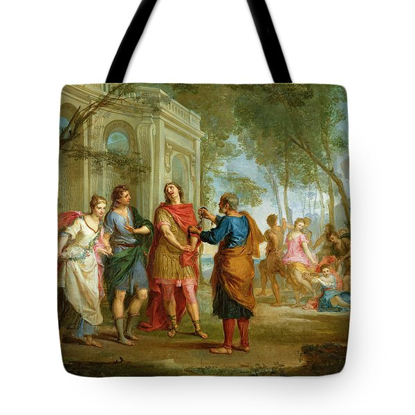 Roland Learns Of The Love Of Angelica And Medoro  Tote Bag by Louis Galloche