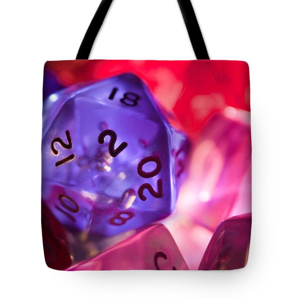 Role-playing D20 Dice Tote Bag by Marc Garrido