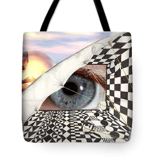 Tote Bag featuring the digital art Roll Back by Darren Cannell