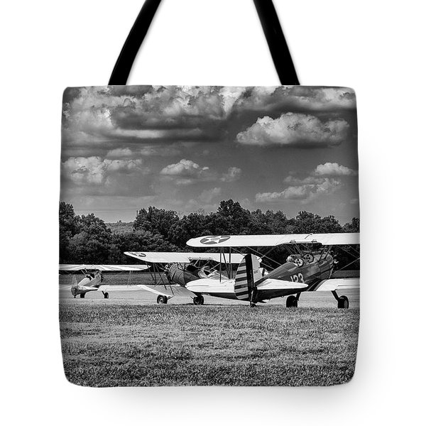 Tote Bag featuring the photograph Roll Out  For Take Off by Alan Raasch