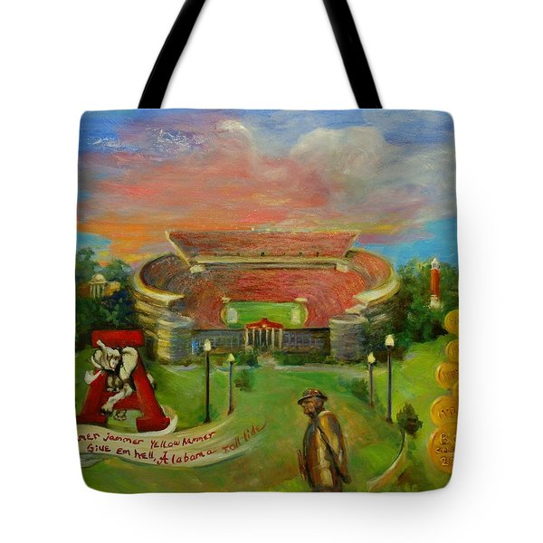 Roll Tide Tote Bag by Ann Bailey