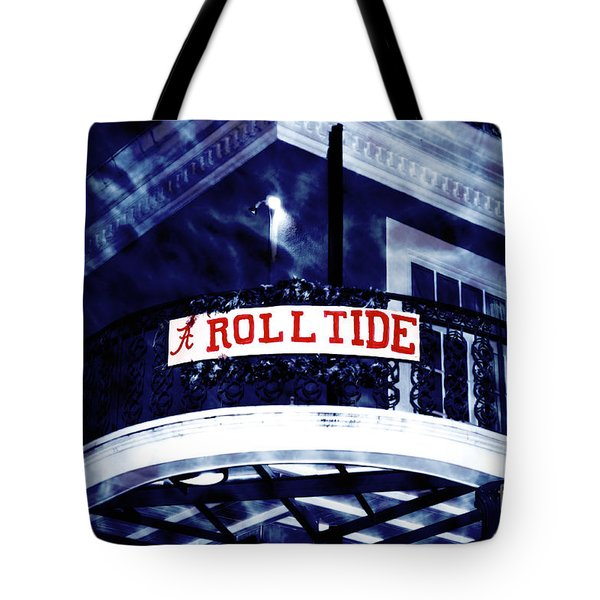 Roll Tide At The Sugar Bowl Tote Bag by John Rizzuto