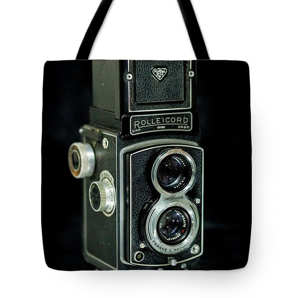 Tote Bag featuring the photograph Rollei Twin Lense by Keith Hawley