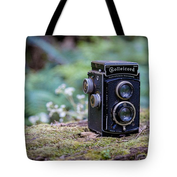 Tote Bag featuring the photograph Rolleicord Tlr by Keith Hawley