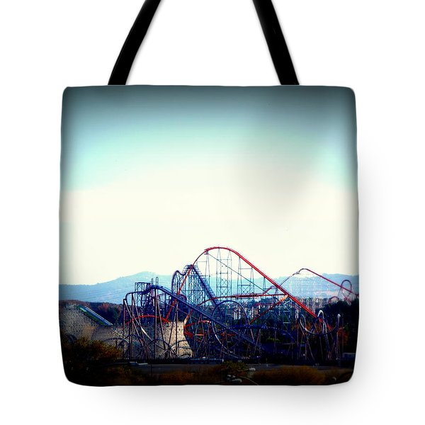Roller Coasters At Twilight Tote Bag