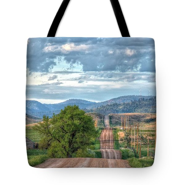 Rollercoaster Country Road Tote Bag