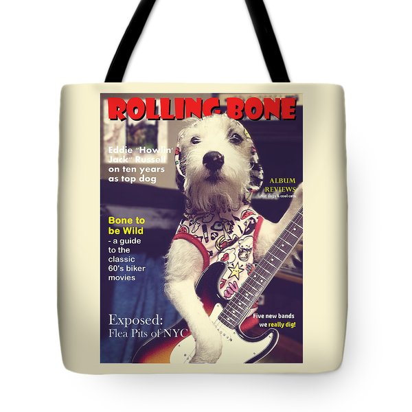 Rolling Bone Magazine Tote Bag by Richard Reeve