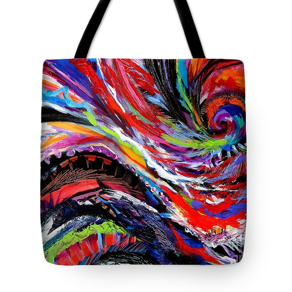 Rolling Detail Three Tote Bag by Expressionistart studio Priscilla Batzell