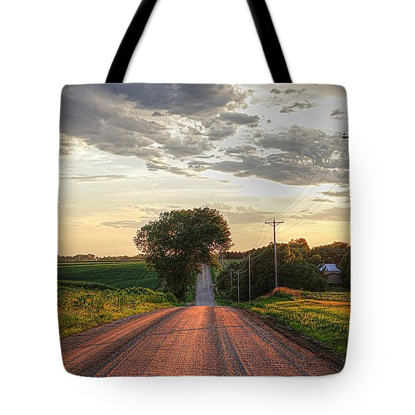 Rolling Down A Country Road Tote Bag