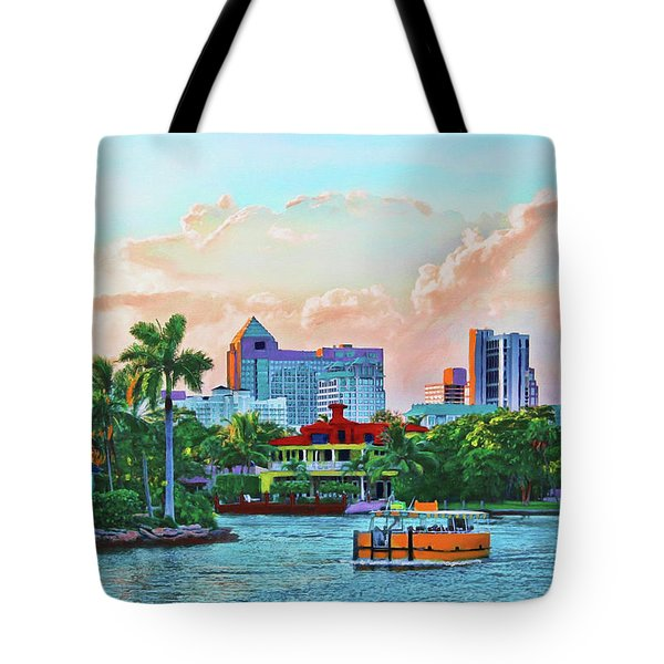 Rolling Down The New River Tote Bag