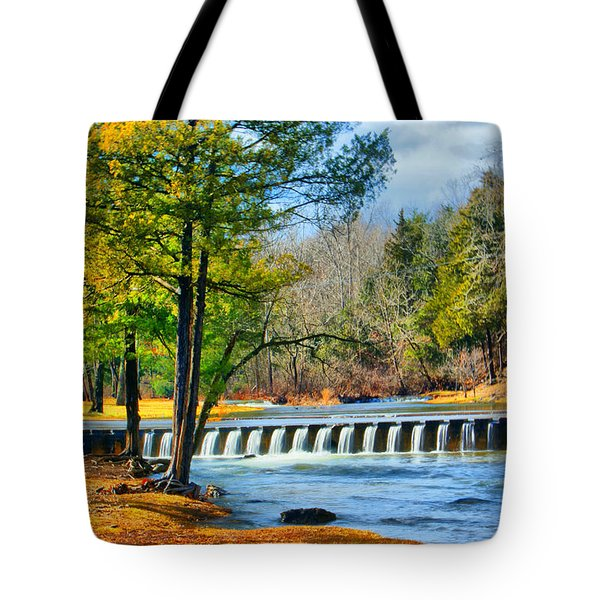 Rolling Down The River Tote Bag by Rick Friedle