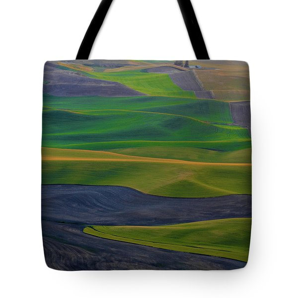 Rolling Fields Of The Palouse Tote Bag by James Hammond