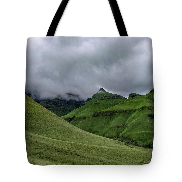 Rolling Green Drakensberg Mountains Tote Bag