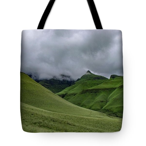 Rolling Green Drakensberg Mountains Tote Bag