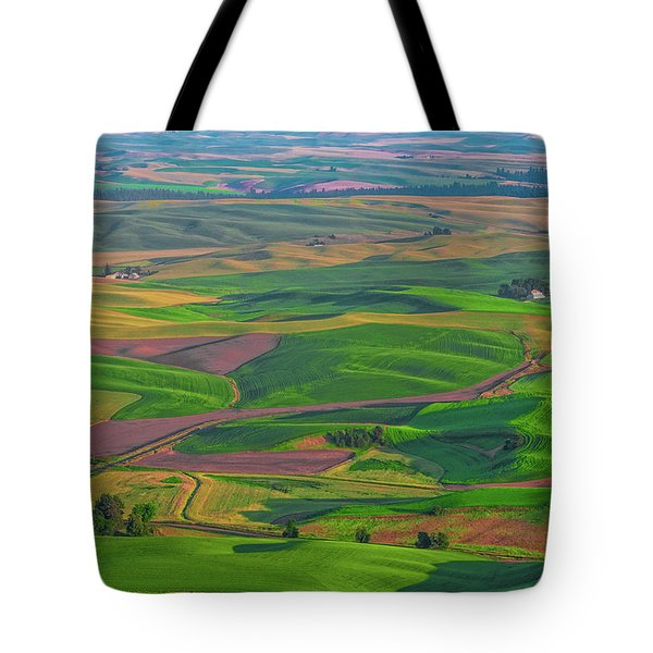 Rolling Green Hills Of The Palouse Tote Bag by James Hammond